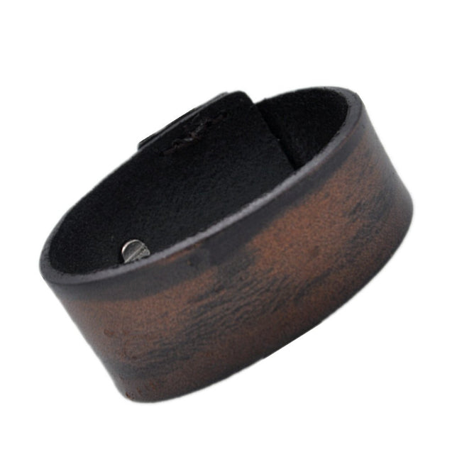 Men's Bracelet Vintage Genuine Leather Wrist Band Cuff Bracelet - InnovatoDesign