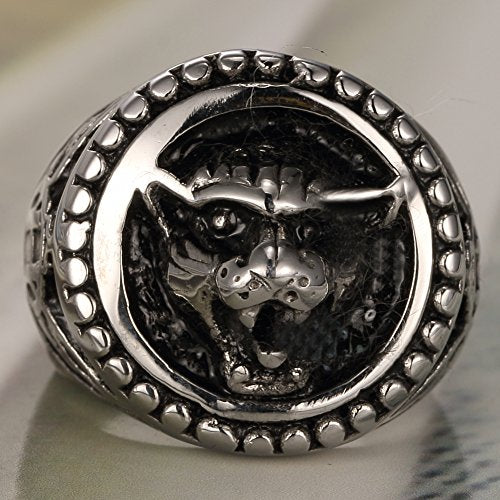 Men's Jewelry 316l Stainless Steel Wolf Head Skull 3D Ring,American Eagle Ring - InnovatoDesign