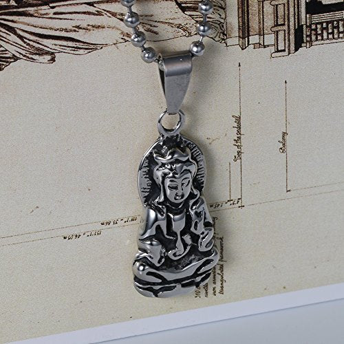Tibet Quan Yin Pendant Necklaces Journey to the West Goddess of Mercy