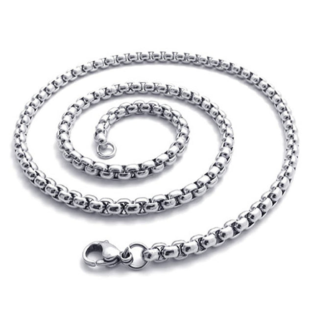 2.5mm 14-40 inch Stainless Steel Chain Men Necklace, Silver, 2.5mm