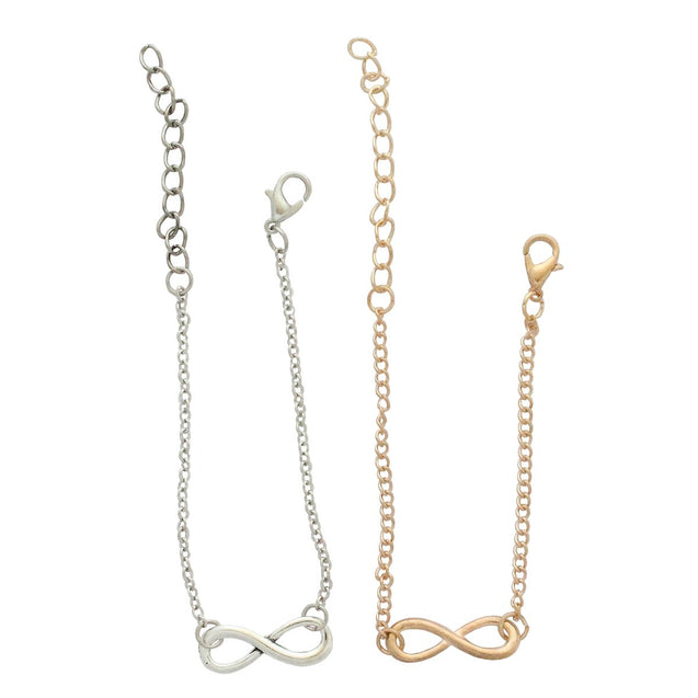 Two Infinity Bracelets - Gold and Silver Color - InnovatoDesign