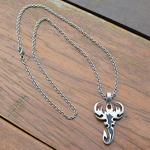 Scorpion Zodiac Sign Scorpio Charm Amulet Pewter Pendant Stainless Steel Chain Necklace - InnovatoDesign