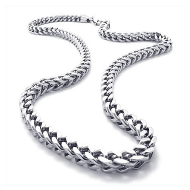 Stainless Steel Men Necklace Link Chain - Silver - Length 22 inch