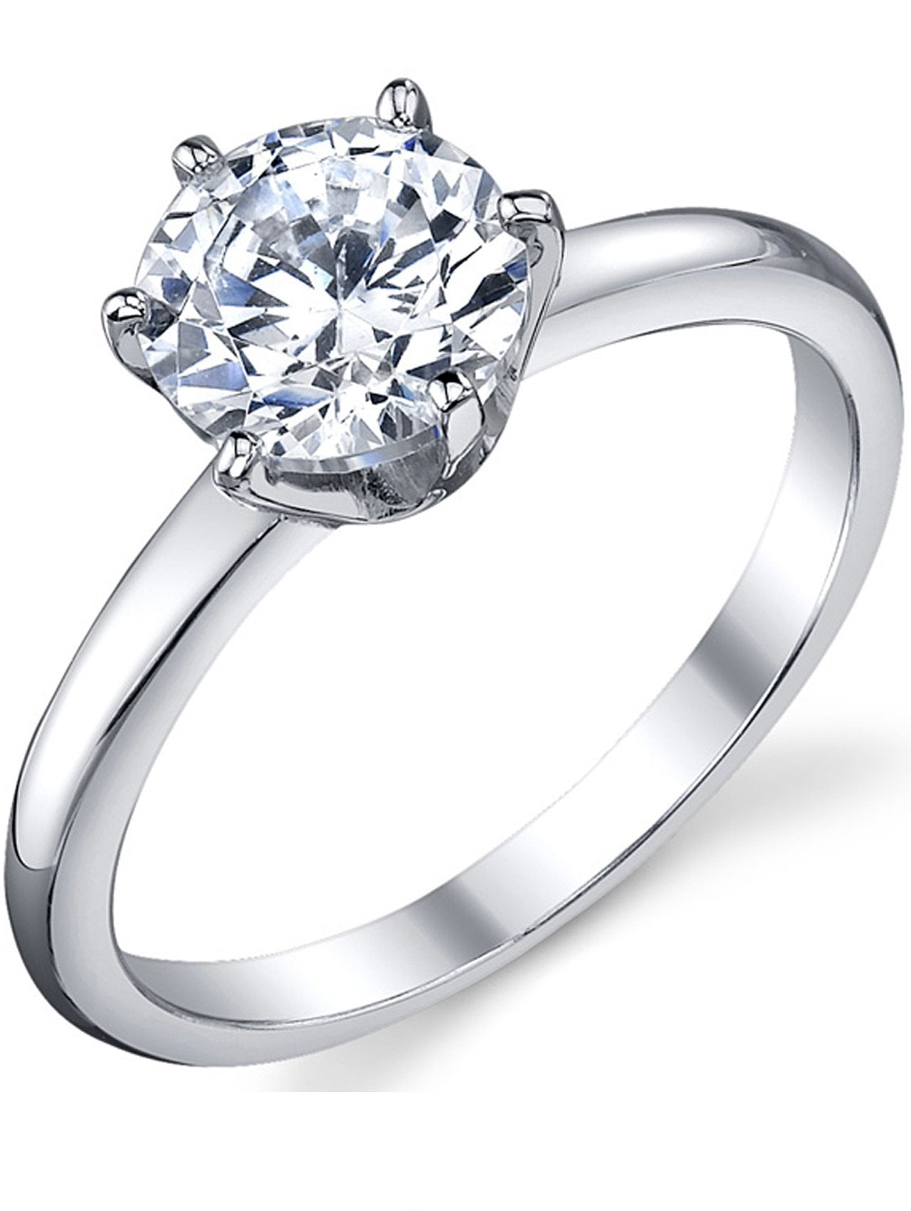 1.25 Ct Round Cut CZ 925 Sterling Silver Engagement Wedding Ring Women/'s Sz 5-10