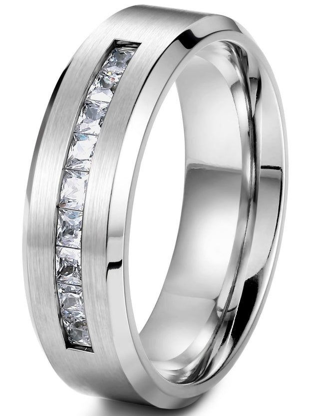 Jewelry 8MM Titanium Rings for Men Wedding Engagement Rings Promise Size 8-14 - InnovatoDesign