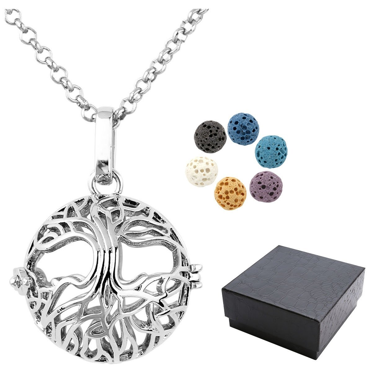 Aromatherapy Essential Oil Diffuser Locket Valentines LOVE Butterfly Cat Pendant Necklaces