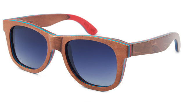 Skateboard Wooden Sunglasses with Case 6 Options