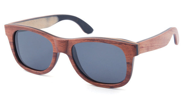 Skateboard Wooden Sunglasses with Case 6 Options - InnovatoDesign
