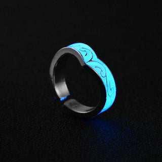Fashion Luminous Glow in The Dark Rings 7 Designs in Blue
