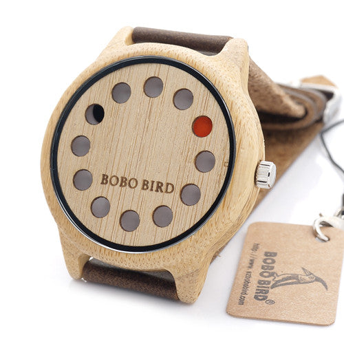 Wooden Watch for Men with Genuine Leather Strap and Gift Box - InnovatoDesign