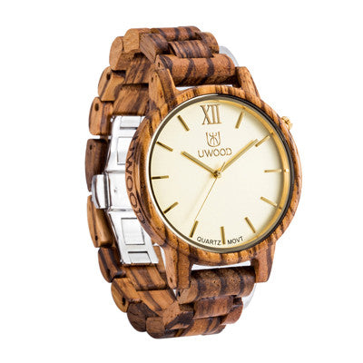Uwood Men Wooden Watch with Japanese Movement Technology