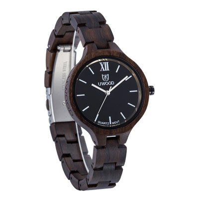 Ladies Luxury Wooden Watch With Bracelet Quartz - InnovatoDesign