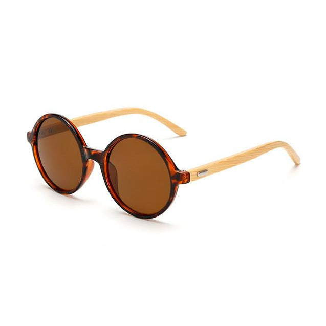 Classic Bamboo Wooden Frame Sunglasses