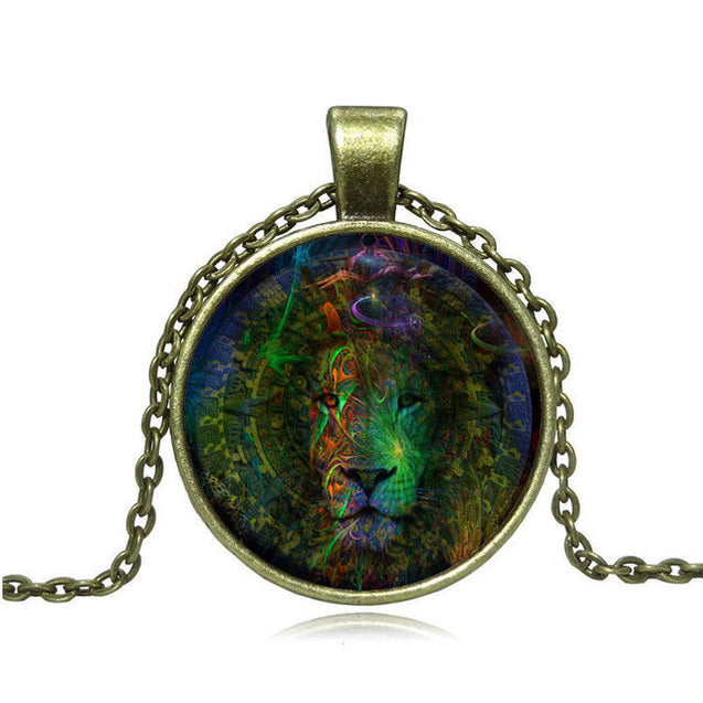 Vintage Lion Necklace Pendant - InnovatoDesign