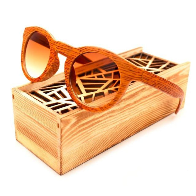 BOBO BIRD Fashion Wooden Ladies Sunglasses with Box