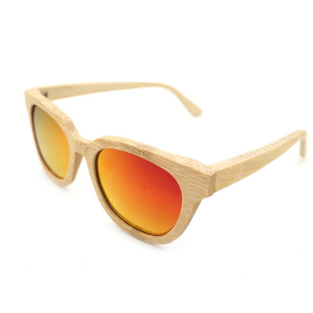 Bobo Bird Handmade Bamboo Retro Sunglasses for Men and Women