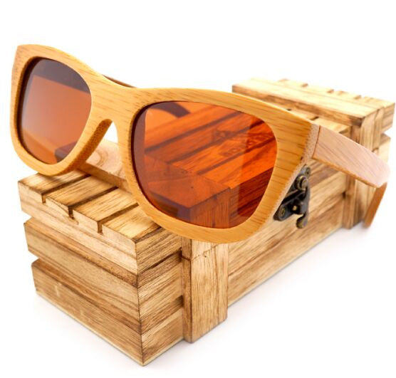 BOBO BIRD 100% Natural Bamboo Wooden Sunglasses with Polarized Mirror Eyewear With Gift Box