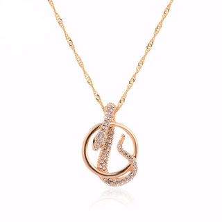 Austrian Crystal Snake Pendant Necklace