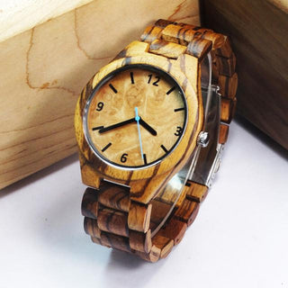 Wooden Men Watch Black and Zebra Models