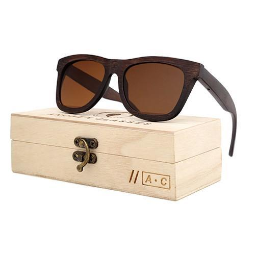 Luxury Mens Wooden Sunglasses with Bamboo Frames and UV400 Protection - InnovatoDesign