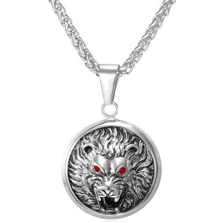Lion Necklace Circle with Chain
