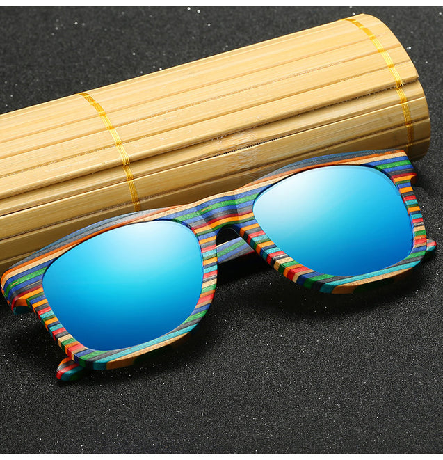 Polarized Wooden Sunglasses for Men with Unique Design