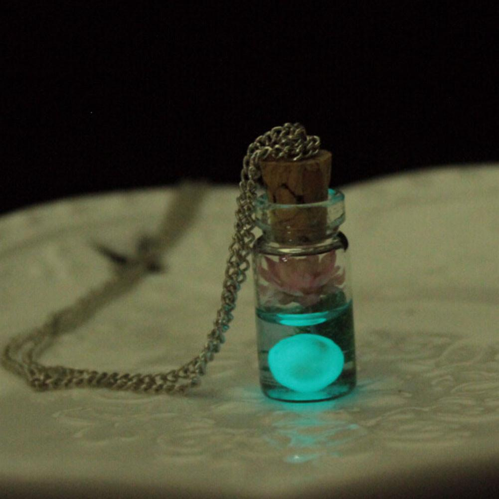 Glow in the Dark Luminous Necklace in The Shape of Bottle