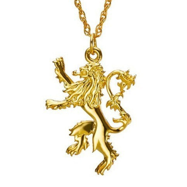 Pendant Necklace with African Lion and Chain