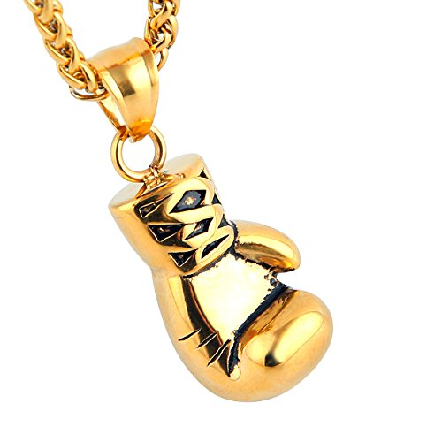 Men Women Punk Stainless Steel Boxing Glove Chain Pendant Necklace - InnovatoDesign