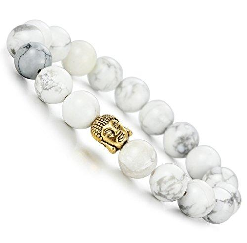 10-12mm Natural Stone Beaded Bracelet for Men Buddha Bracelet Religious Elastic