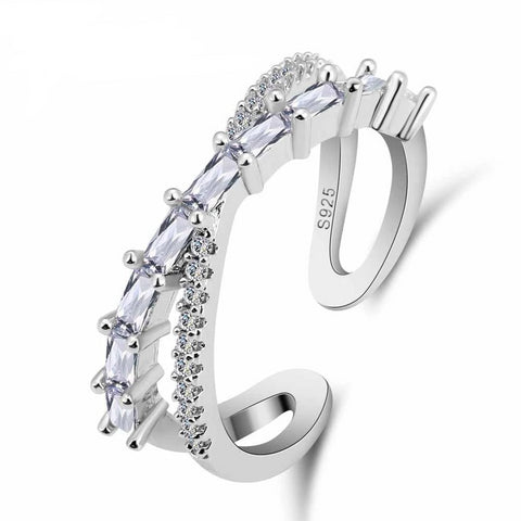 925 Sterling Silver Austrian Crystal Stackable Rings, Rings, Majestic Jewelry Co.