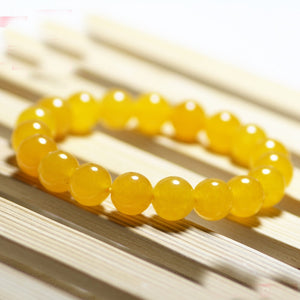 Yellow Smooth Round Beads Bracelets, Beads, Majestic Jewelry Co.