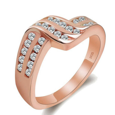 14k Gold New Arrival Elegant Geometric Curved Shape, Rings, Majestic Jewelry Co.