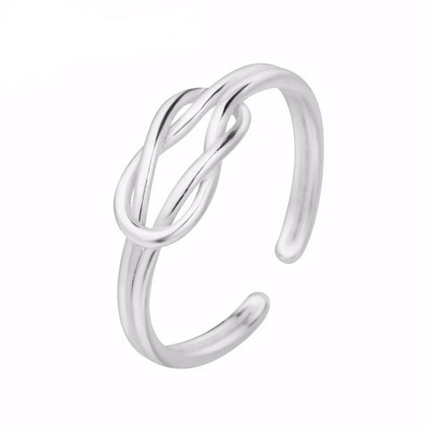 925 Women Love Knot Ring, Rings, Majestic Jewelry Co.