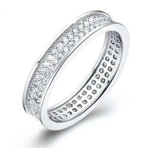 925 Double Rows Cubic Zirconia Rings, Rings, Majestic Jewelry Co.