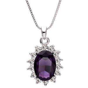 3 Carat Handcrafted Alexandrite Pendant with Silver  Chain, Chains with Pendant, Pandora's Jewels Inc.