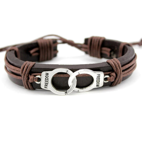 Police Mens Leather Bracelet, Leather, Majestic Jewelry Co.