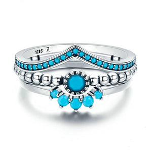 925 Sterling Silver Stackable Blue, Rings, Majestic Jewelry Co.