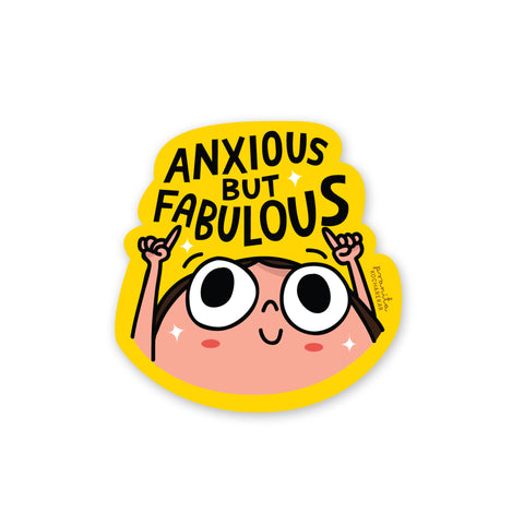 ANXIOUS BUT FABULOUS LAPTOP STICKER