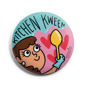 KITCHEN KWEEN BADGE + MAGNET