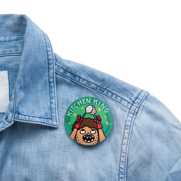 KITCHEN KING BADGE + MAGNET
