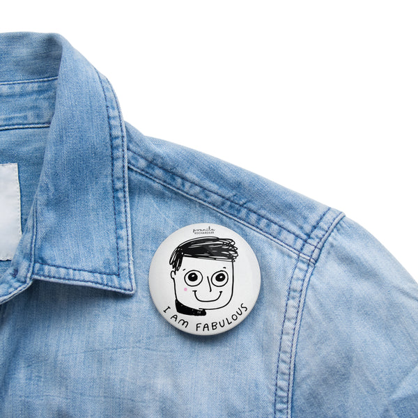 FABULOUS BOY BADGE + MAGNET
