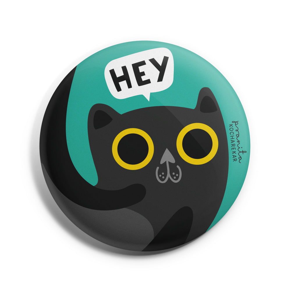 CAT BADGE + MAGNET