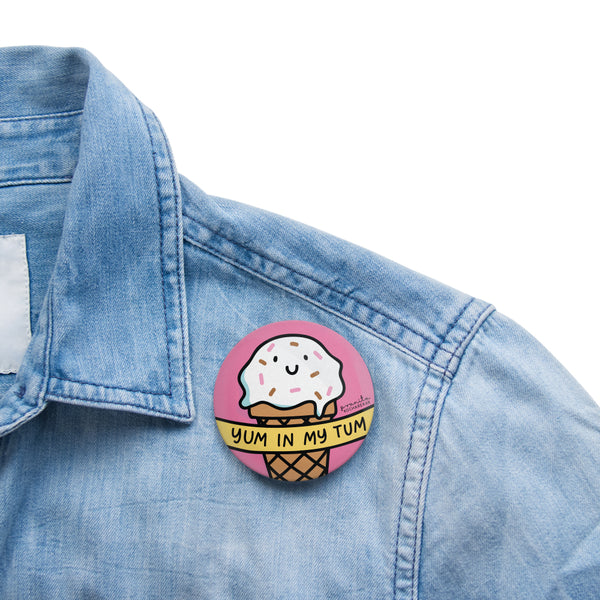 ICE CREAM YUM BADGE + MAGNET