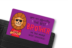 BEST BROTHER WALLET CARD
