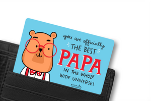 BEST FATHER WALLET CARD
