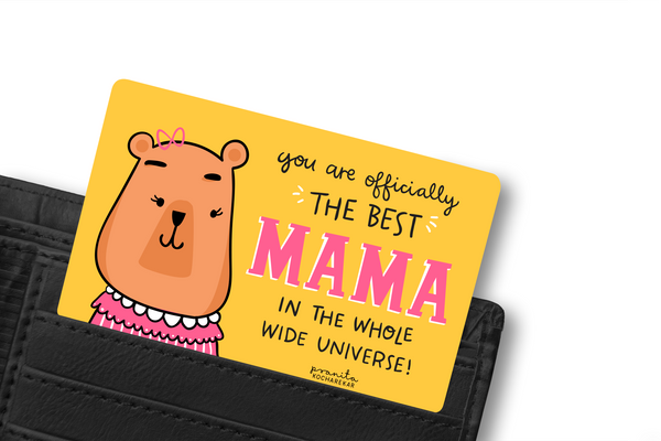 BEST MOTHER WALLET CARD