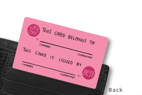 BEST SISTER WALLET CARD