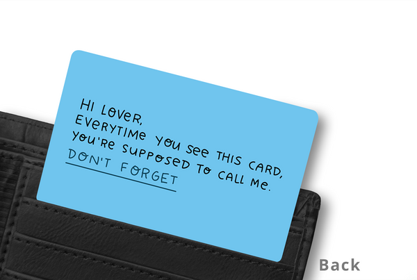 HEY LOVER WALLET CARD