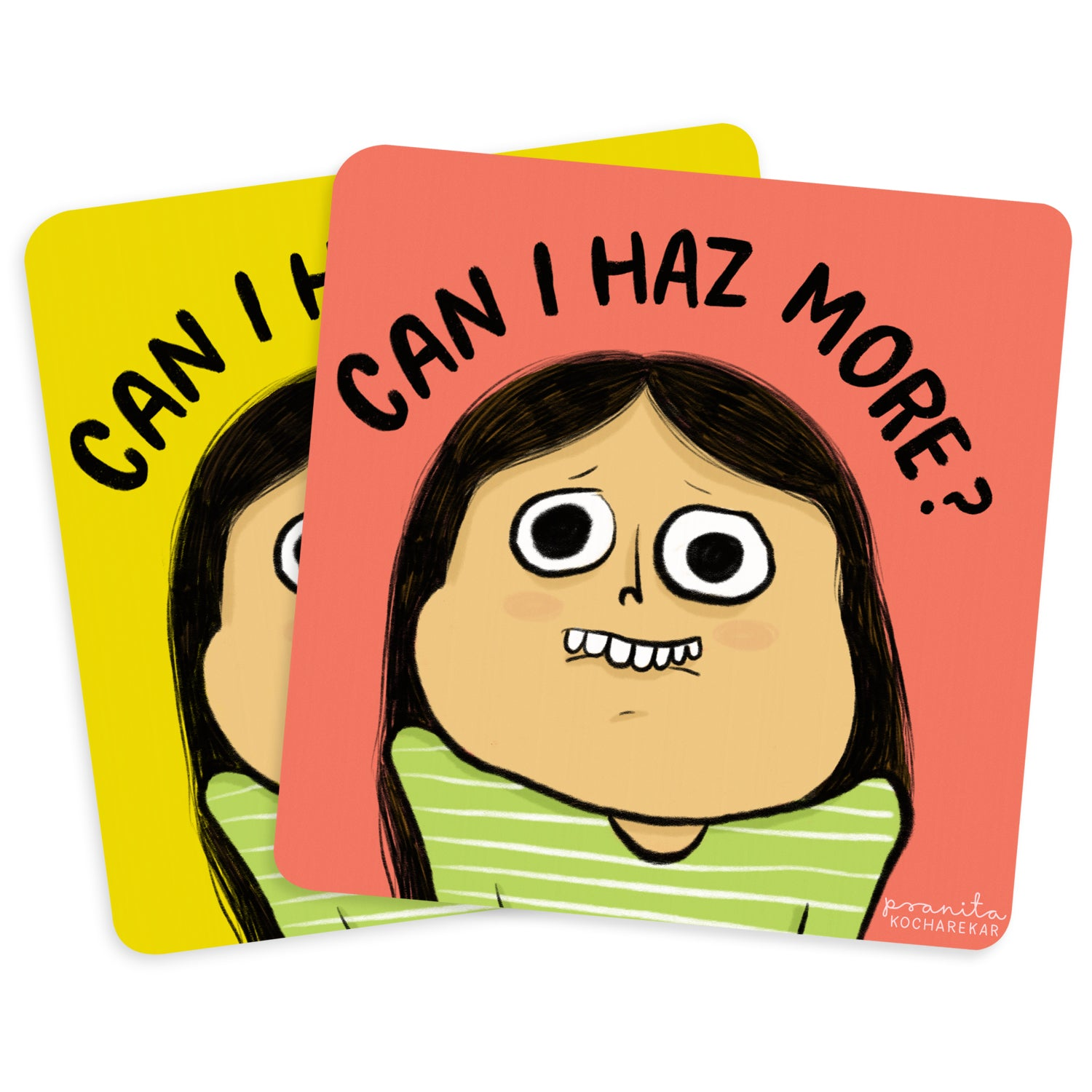 CAN I HAZ MORE COASTERS - SET OF 2